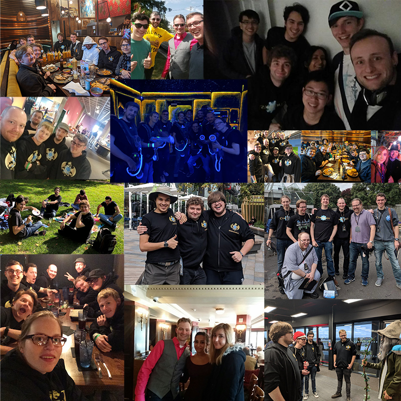A collage of our meetups in person